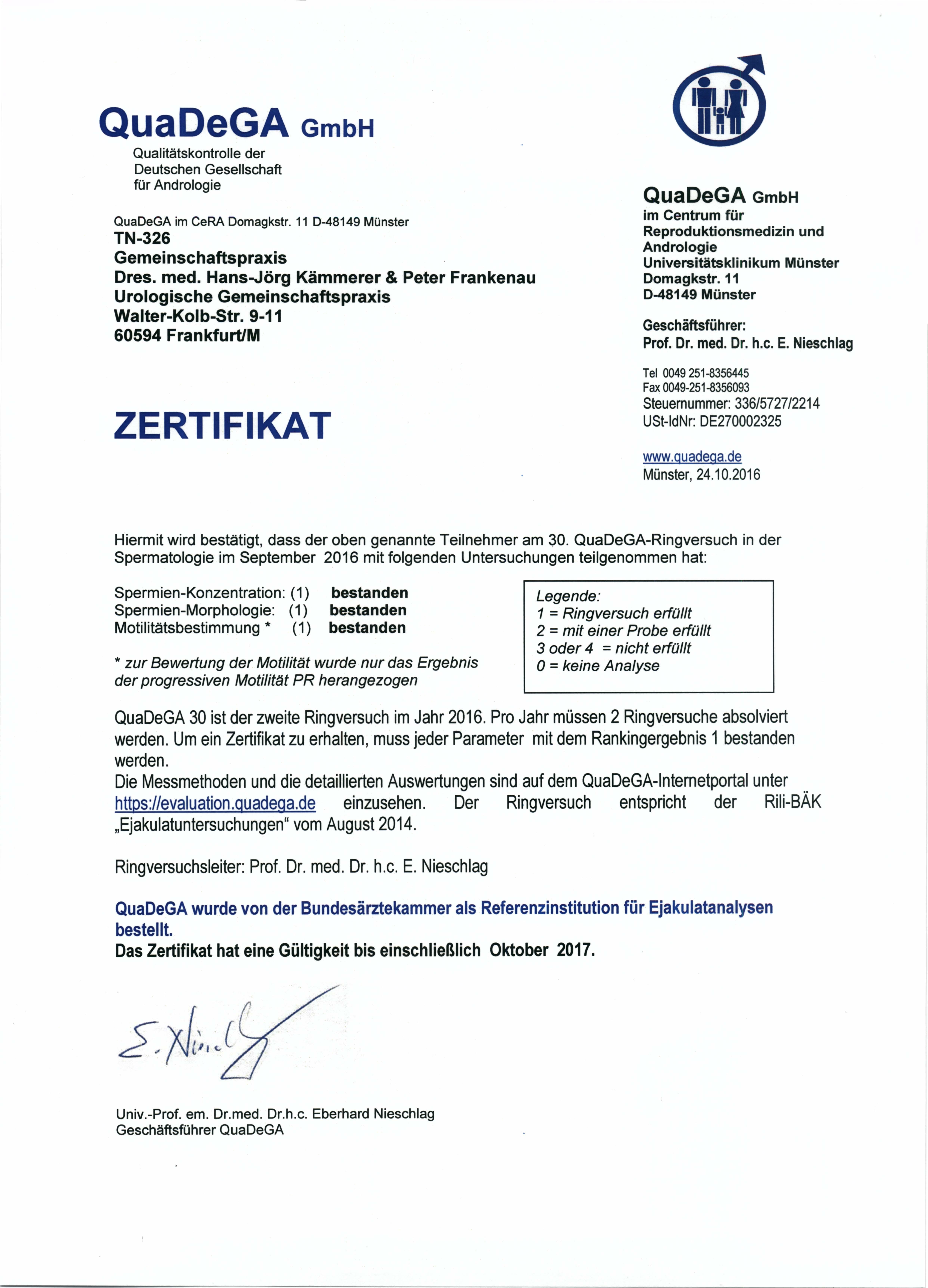 Zertifikate |
